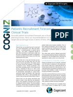 Patients Recruitment Forecast in Clinical Trials