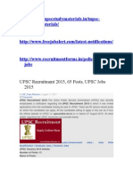 UPSC Recruitment 2015.doc
