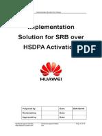 Change Implementation Solution - SRB Over HSDPA