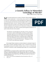 Is There a Genetic Fallacy in Nietzsches Genealogy