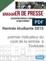 2015 08 25 Cout de La Rentrée Etudiante AGEMP