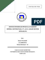 Jurnal Sistem Informasi Penjualan Kredit