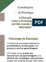[Slides II] Contribuicoes Da Psicologia a Educacao