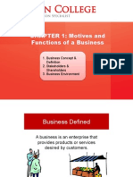 Motives and Functions of a Business