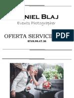 Daniel Blaj Photography - Oferta Servicii Fotografice Nunta