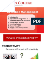 Improving Productivity & Quality