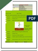 Activities on Plants