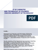 Department of Chemistry and Technology of Polymers