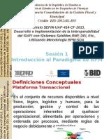 Plataforma de Interoperabilidad SIAFI, Sesion 1