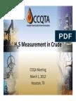 H2S Measurement in Crude