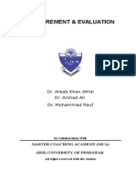 Measurement and Evaluation (Book) Abbasi.docx