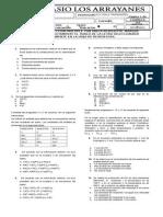 Evaluacion Bimestral II Periodo 9 - Fila b
