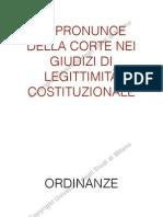 Le Pronunce Della Corte Costituzionale Nei Giudizi Di Legittimità Costituzionale (Lezione 12 Marzo)