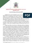 PresentaciÓn de La Carta EncÍclica Spe Salvi