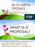 How to Write Proposals