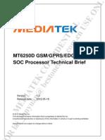 MT6250D MT6250D SOC processore technical brief