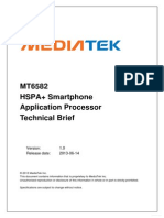 MT6582 HSPA + smart phone application processor technical brief