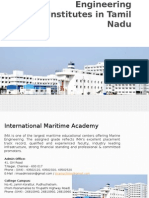 Top Five Marine Engineering Institutes in Tamil Nadu