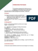 Informations Pratiques 2013