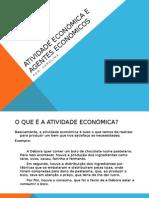 Atividade Económica e Agentes Económicos