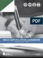 NSCA Certifcation Handbook