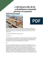 Contraste Del Desarrollo de La Logística Colombiana Tomando Como Referente El Contexto Internacional