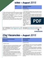 Vacancies 25 Aug 2015