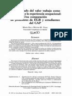 El Significado Del Valor Trabajo Como Relacionado a La Experiencia Ocupacional_una Comparación de Professroes de Egb y Estudiantes Del Cap_ros e Grad_1991