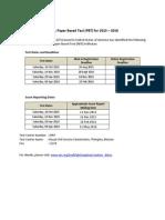 2015-2016 TOEFL PBT