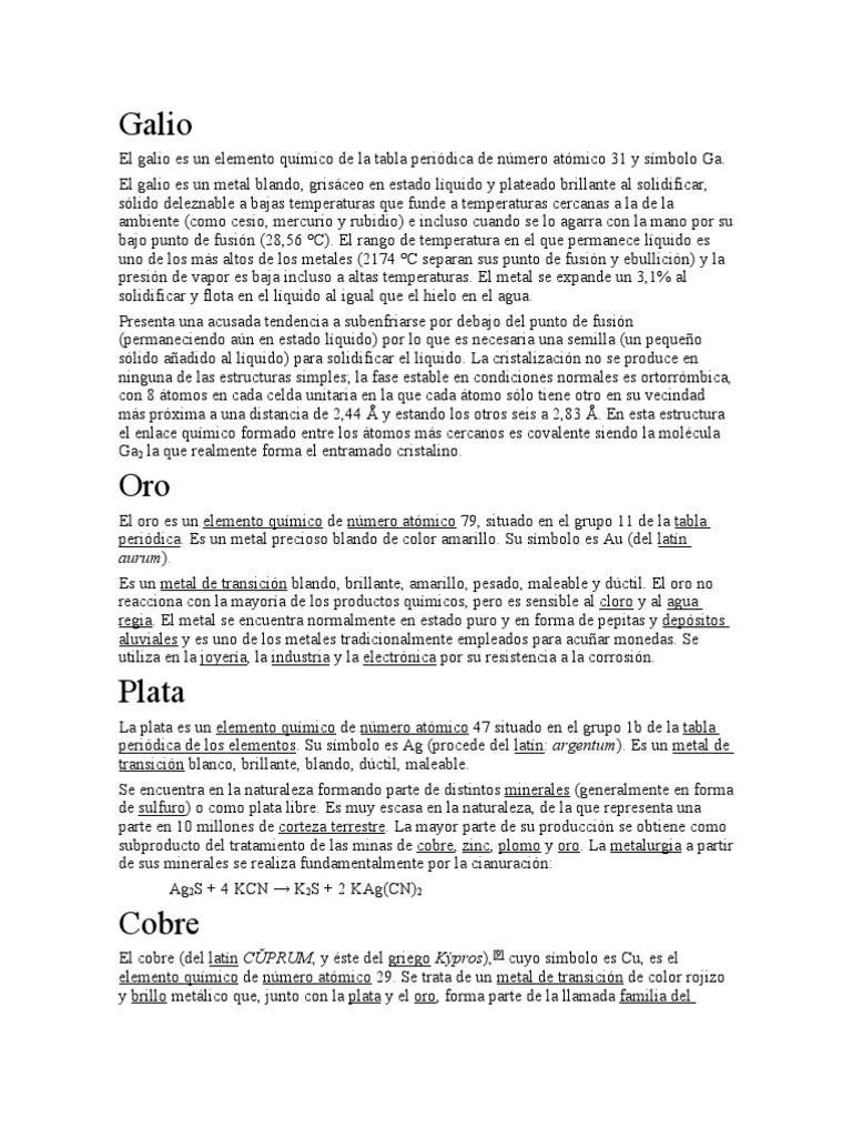 El galio es un elemento qumico de urtaz Image collections