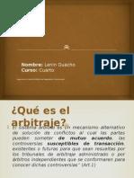 Diapositivas Arbitraje Lenin Guacho