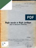 Jean Dabin Regle morale et regle juridique