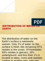 Distrubution of Water on Earth