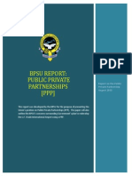 BPSU's Report on Private Public Partnerships (PPP)