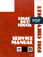 ST 330-81-1981 Chevrolet Light Duty Truck 10 to 30 Service Manual