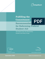 Rethinking Student Aid Fulfilling Commitment Recommendations