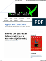 Verified Bank Tricks-Rules Redefined