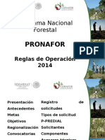 Difusion General Pronafor 2014
