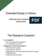 Extended Essay Presentation