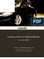 Carsala Study on CarMax Prices