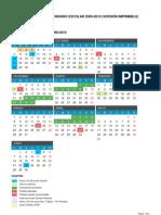 Calendario Escolar 2009-2010 para Castilla y León