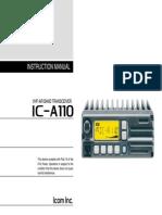 Airband_IC-A110 Instruction Manual