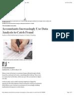 Accountants Increasingly Use Data Analysis to Catch Fraud - WSJ