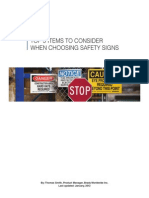 Safety Signs 5 Considerations Guide