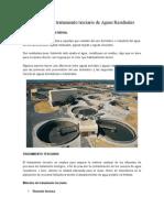Métodos Para Tratamiento Terciario de Aguas Residuales