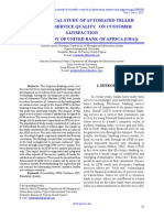 An Empirical Study of Automated Teller Machine Service Quality on Customer
