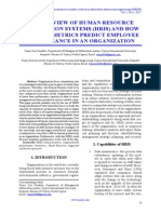 An Overview of Human Resource Information Systems (HRIS) and How Behaviormetrics Predict Employee Performance in an Organization