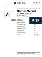 Whirpool Lavastoviglie ADP 4962 IX Service manual