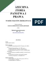 Powszechna historia państwia i prawa (Wybór tekstów źródłowych) - Wyboru dokonali Marian Józef Ptak i Marek Kinstler