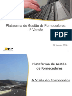 Manual Resumo Para Fornecedores- Supplierselfservicegsi - Apresentao Externa - Plataforma de Fornecedores